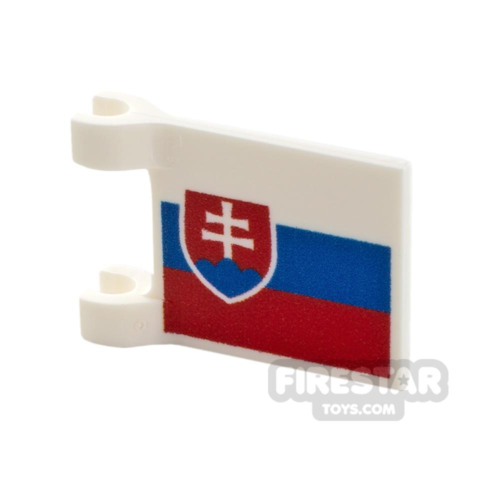Printed Flag with 2 Holders 2x3 Slovakian Flag