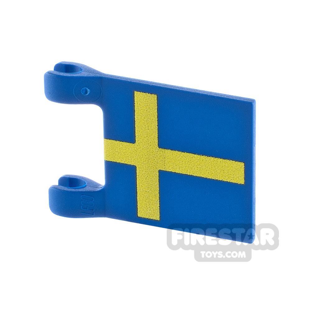 Printed Flag with 2 Holders 2x3 Swedish Flag