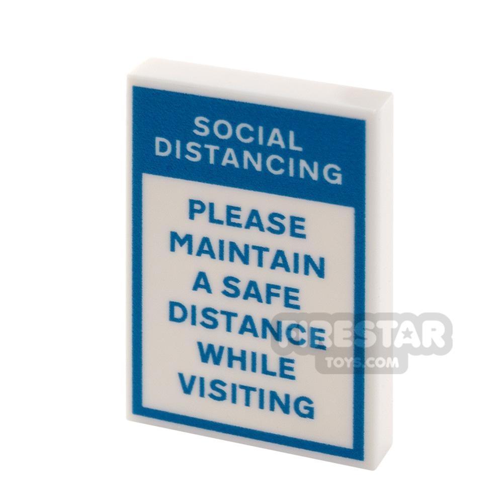 Printed Tile 2x3 Social Distancing