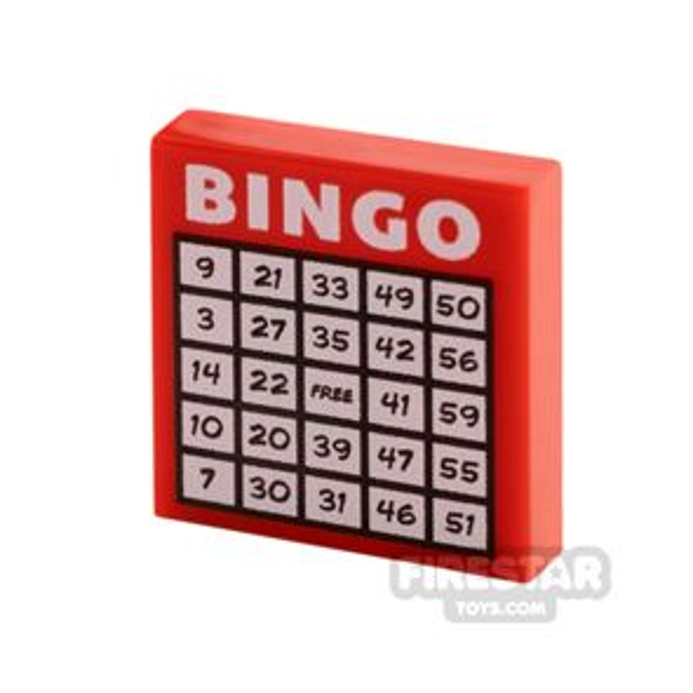 Printed Tile 2x2 Bingo Card