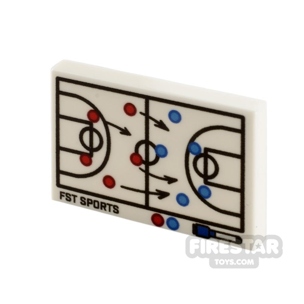 Printed Tile 2x3 Basketball Tactics Board