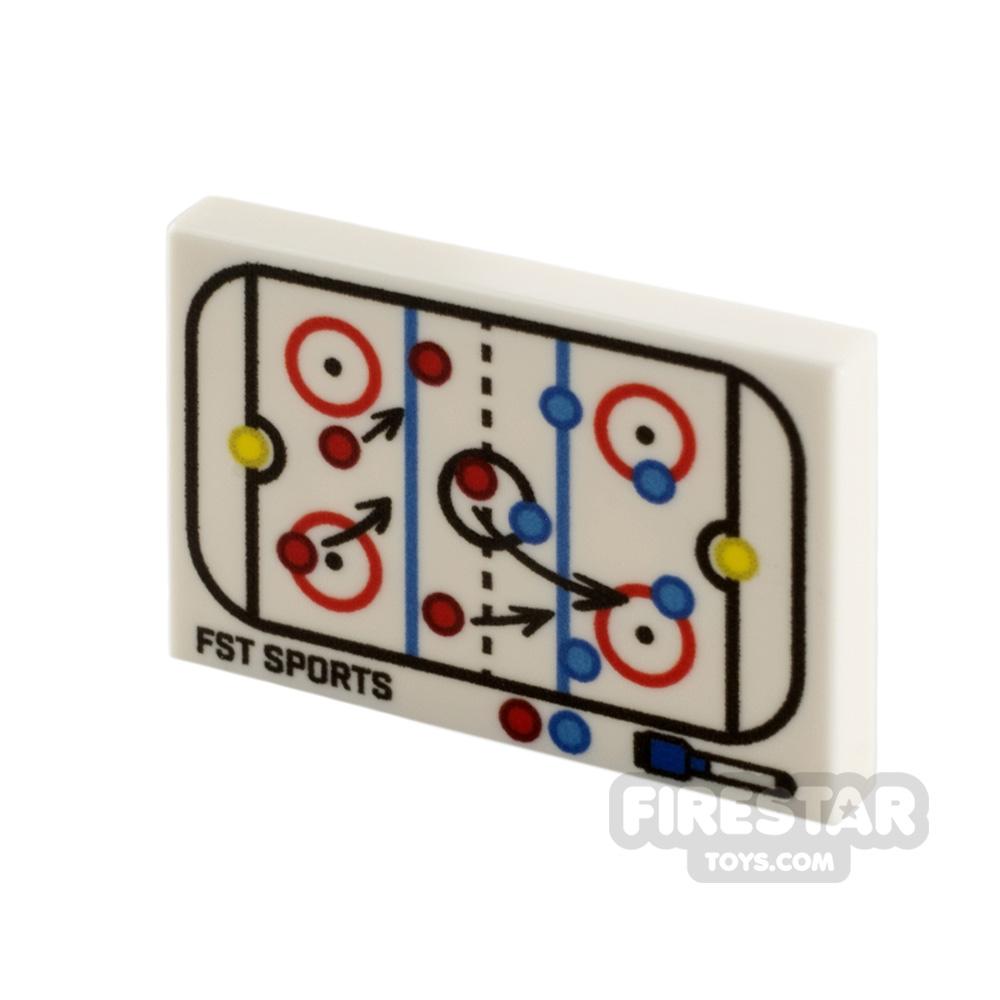 Printed Tile 2x3 Ice Hockey Tactics Board