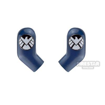 Custom Design Arms - White Shield Agent Logo