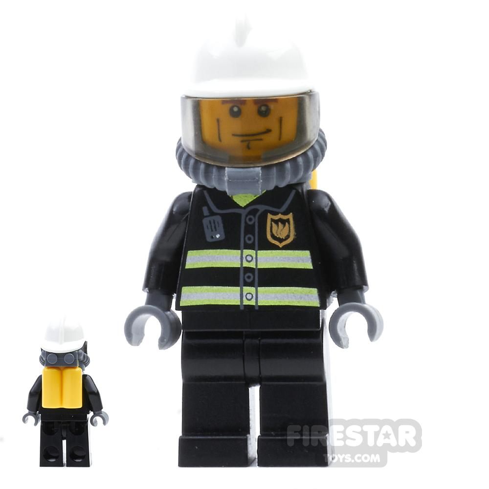 LEGO City Mini Figure - Fire - Yellow Airtanks 5