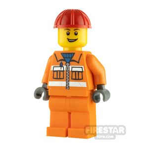 LEGO City Minifigure Construction Worker Safety Stripes