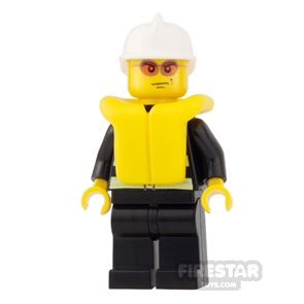 LEGO City Mini Figure - Fire - Life Jacket and Sunglasses
