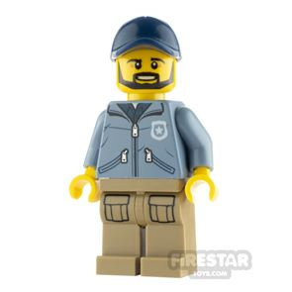 LEGO City Minfigure Mountain Police Male Sand Blue Jacket