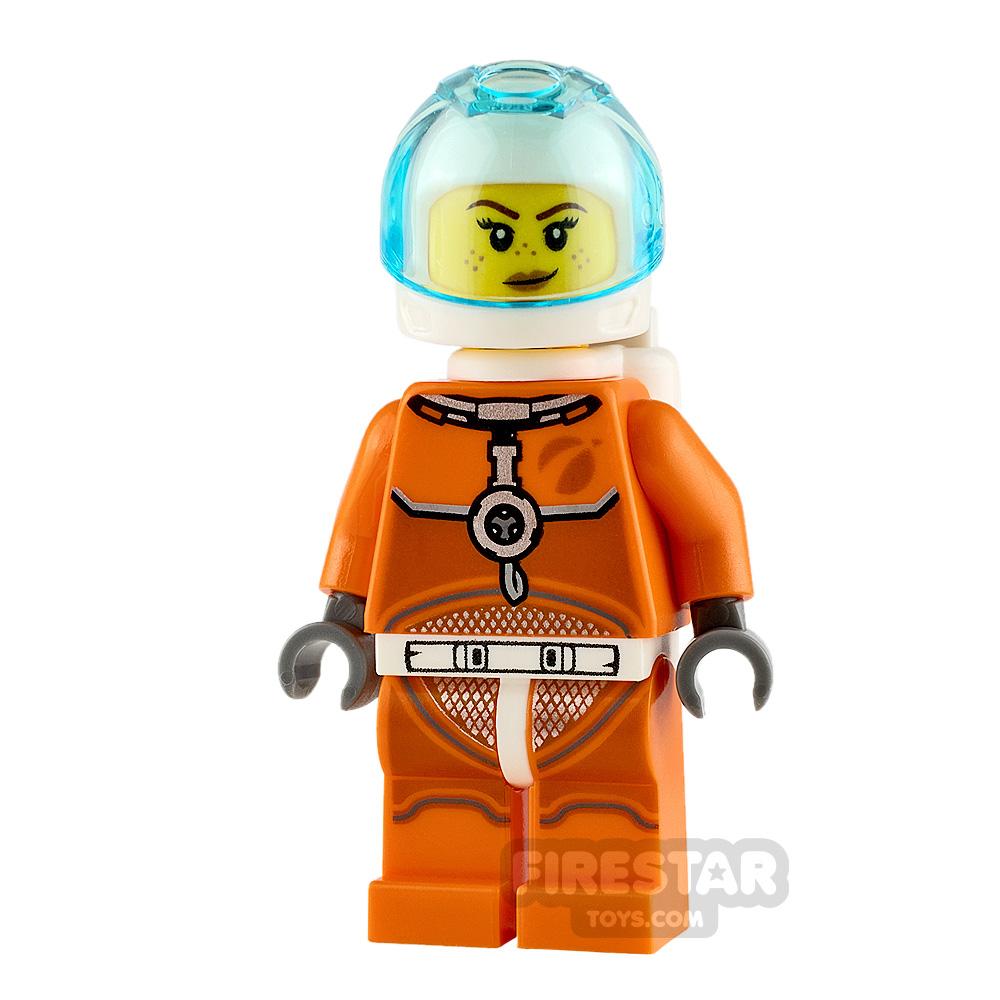 LEGO City Minifigure Astronaut with Orange Spacesuit