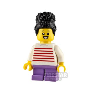 LEGO City Minifigure Girl with Red Stripes Sweater