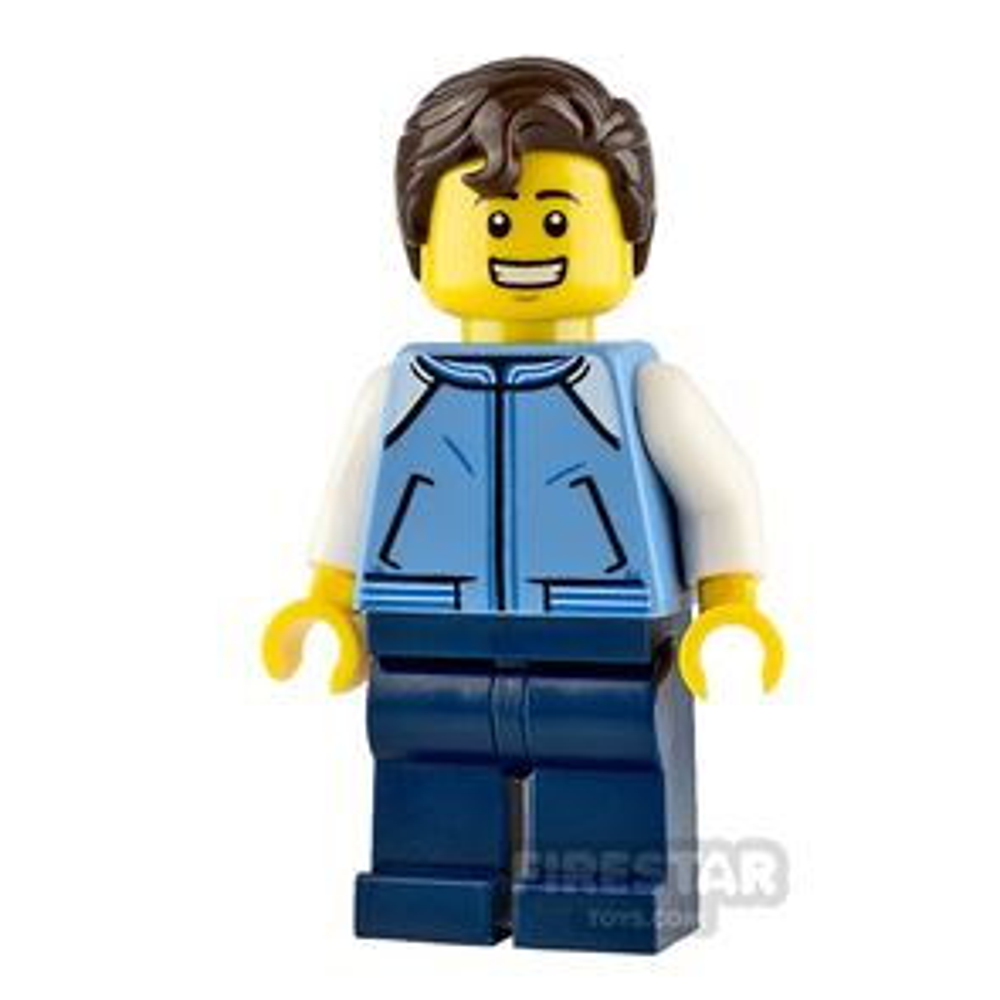 LEGO City Minifigure Teenage Boy with Blue Jacket