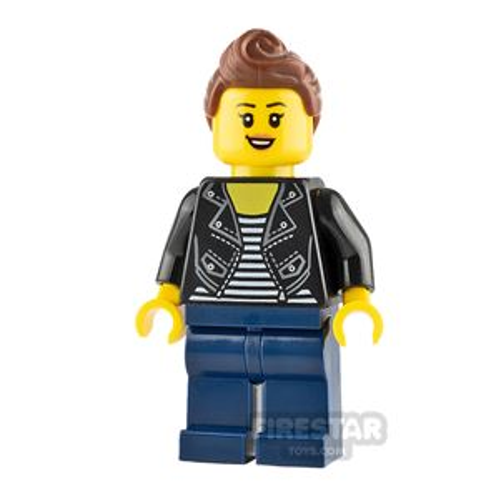 LEGO City Minifigure Teenage Girl with Black Jacket