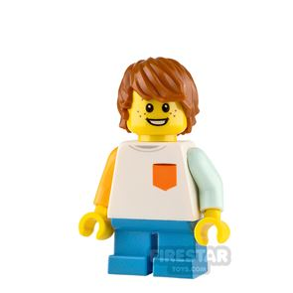 LEGO City Minifigure Boy with White Shirt