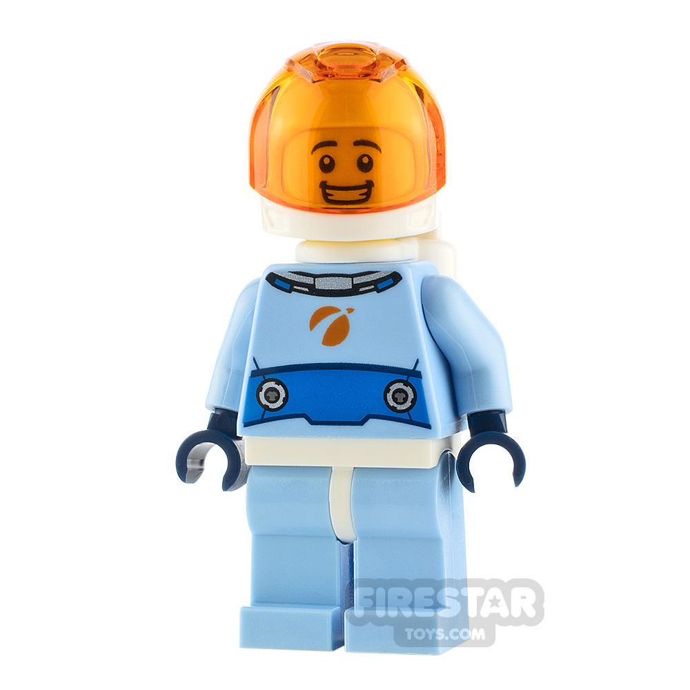 LEGO City Minifigure Astronaut Bright Blue Spacesuit