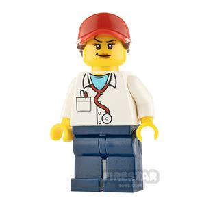 LEGO City Minifigure Ponytail with Ball Cap