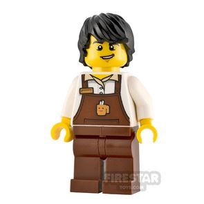 LEGO City Minifigure Barista Male with Brown Apron