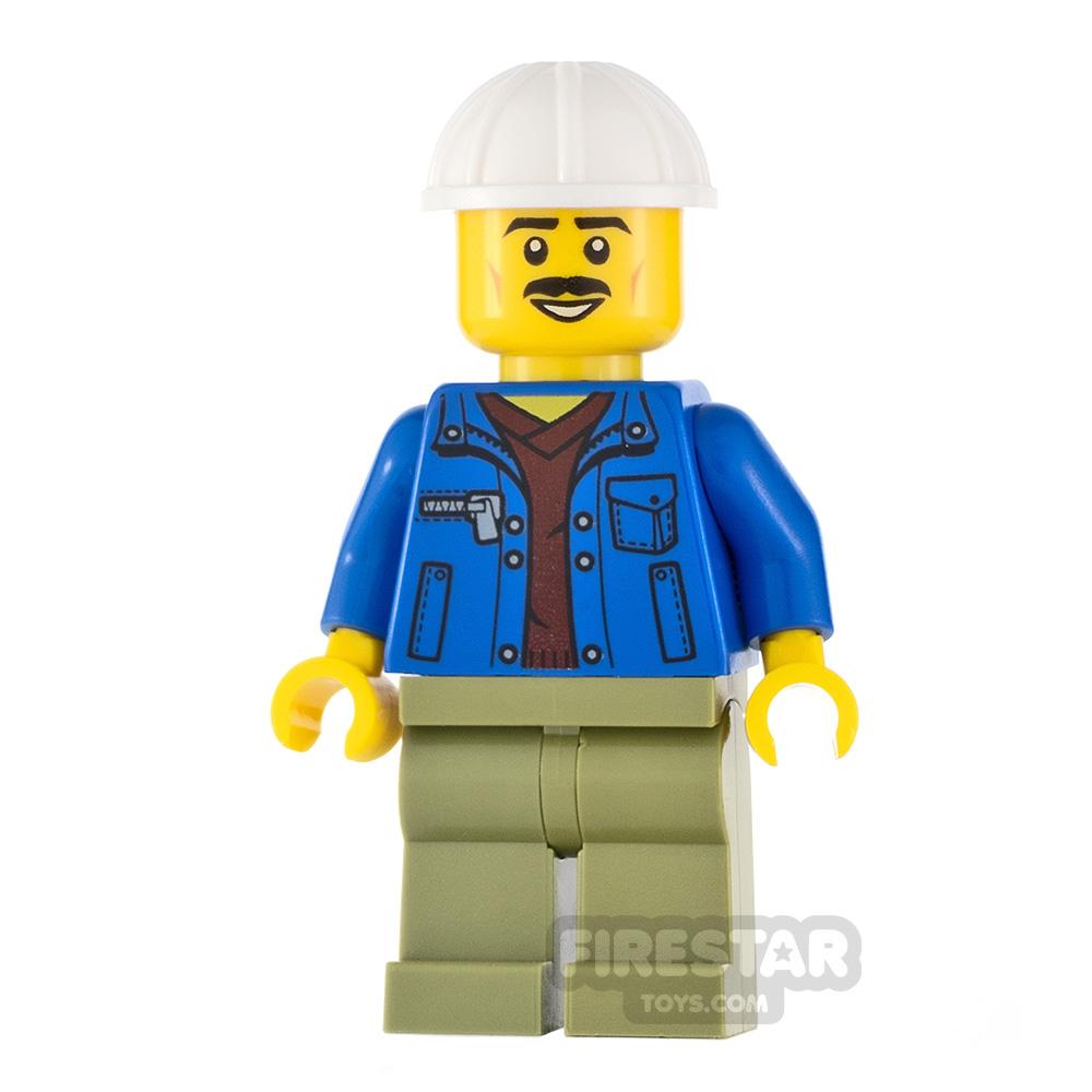 LEGO City Minifigure Truck Driver Blue Jacket