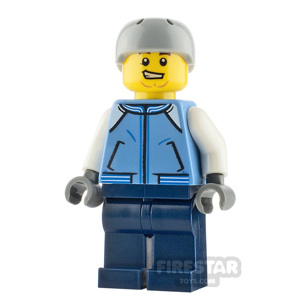 LEGO City Minifigure Snowboarder Medium Blue Jacket