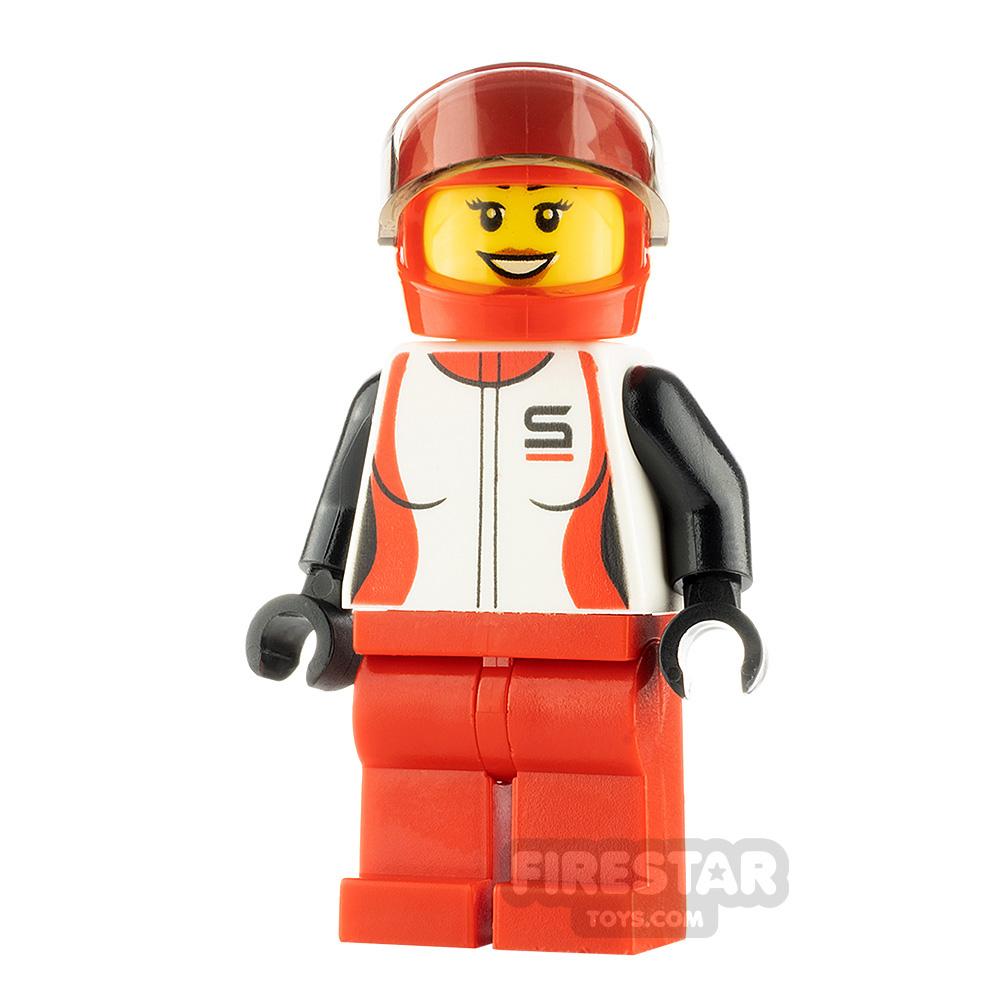 LEGO City Minfigure Race Car Driver Female