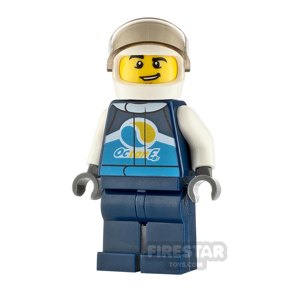 LEGO City Minfigure Race Car Driver Male