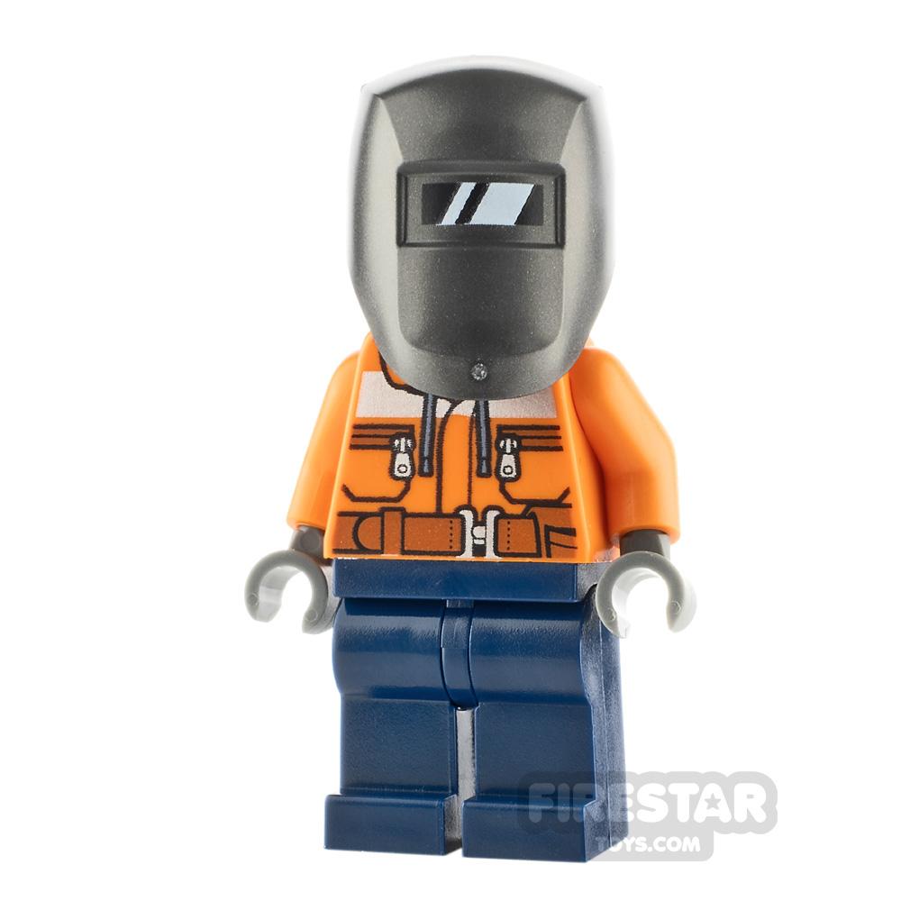 LEGO City Minfigure Construction Worker Male Welder