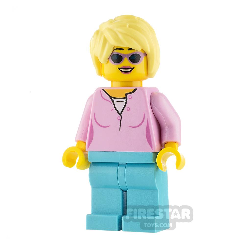 LEGO City Minifigure Female Bright Pink Top
