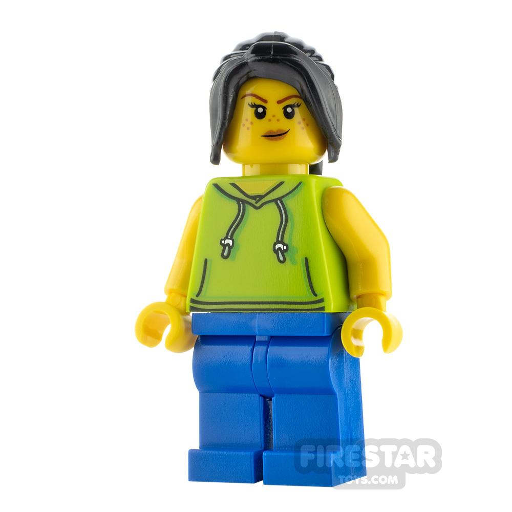 LEGO City Minifigure Surfer Lime Hoodie