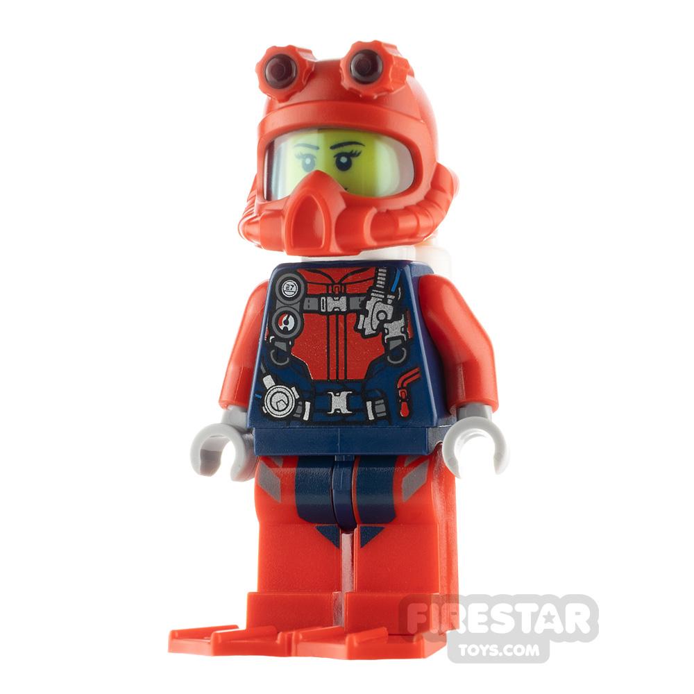 LEGO City Minfigure Scuba Diver Female