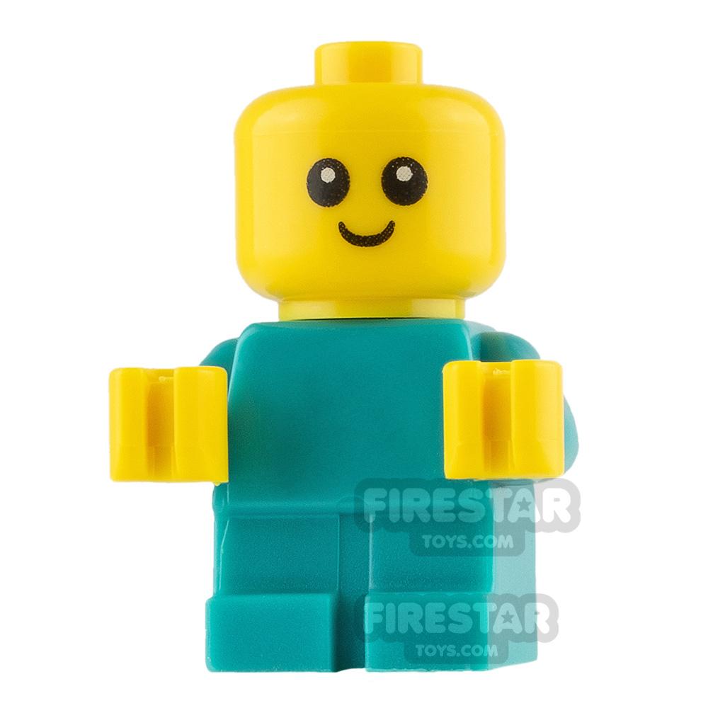 LEGO City Minifigure Baby Dark Turquoise Babygrow
