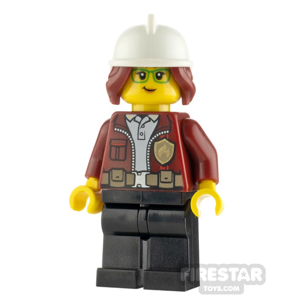 LEGO City Minifigure Freya McCloud Dark Red Jacket