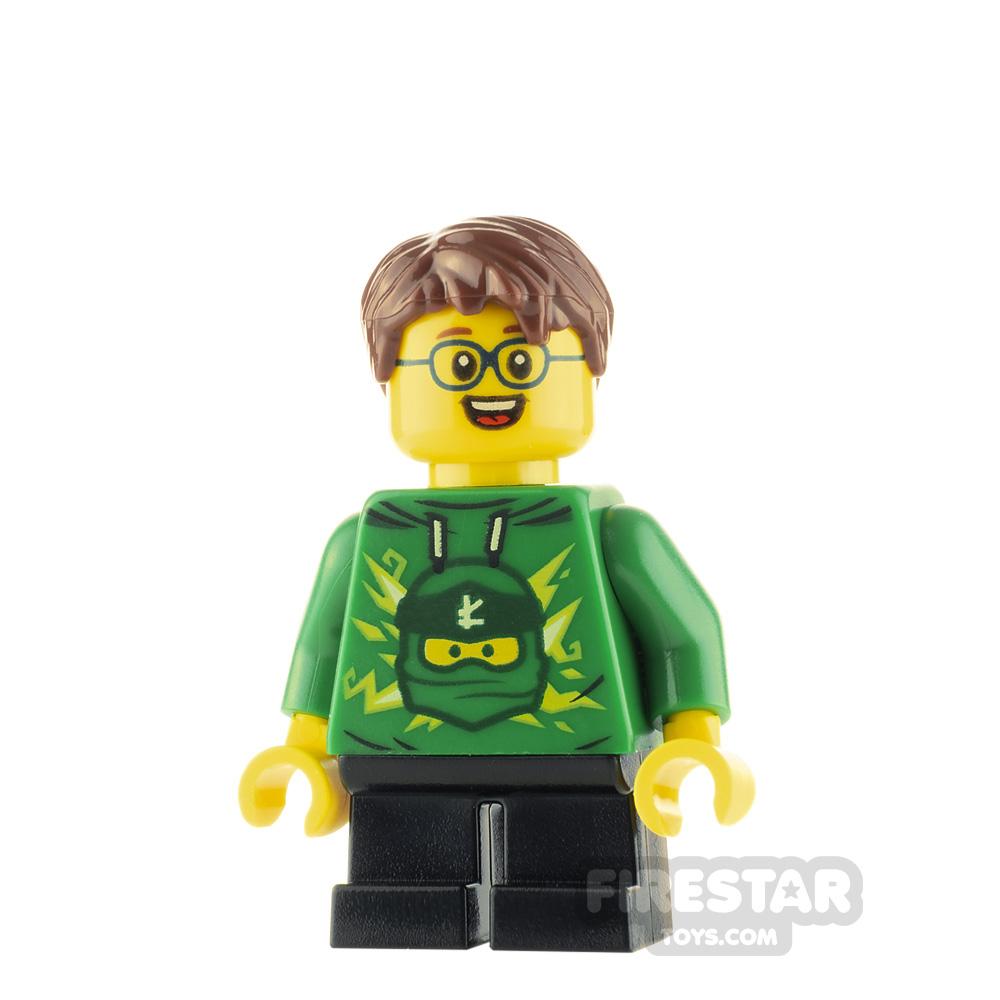 LEGO City Minfigure Boy with Ninjago Hoodie