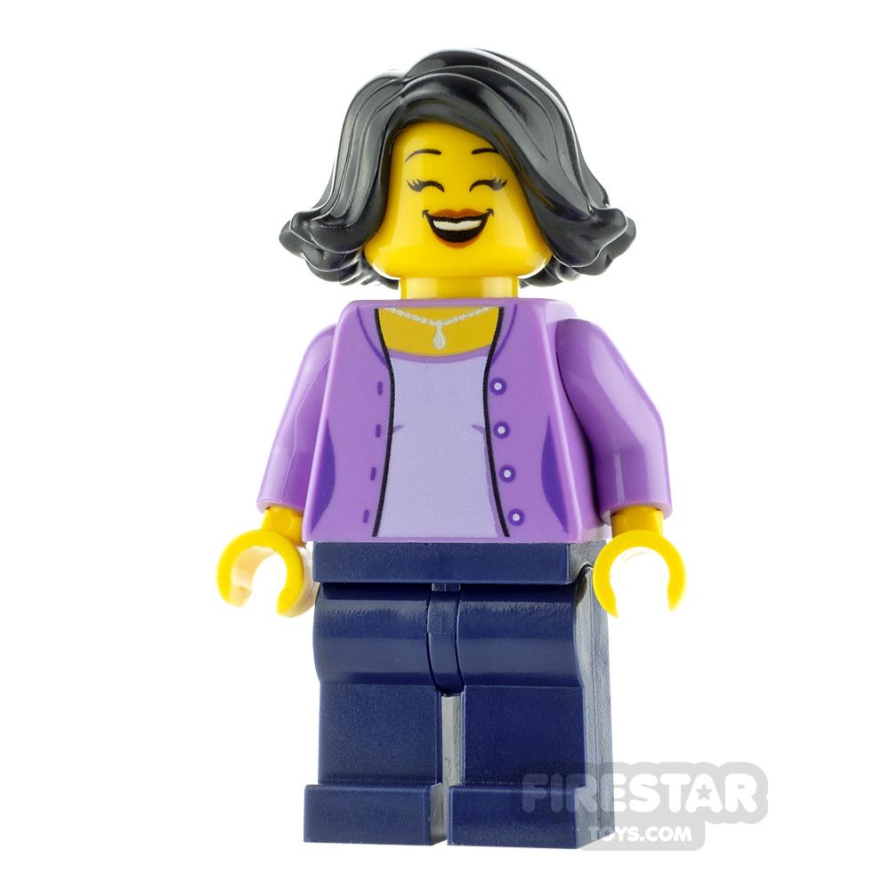 LEGO City Minfigure Mum with Lavender Jacket