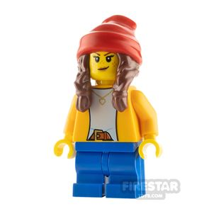 LEGO City Minfigure Girl with Beanie and Braids
