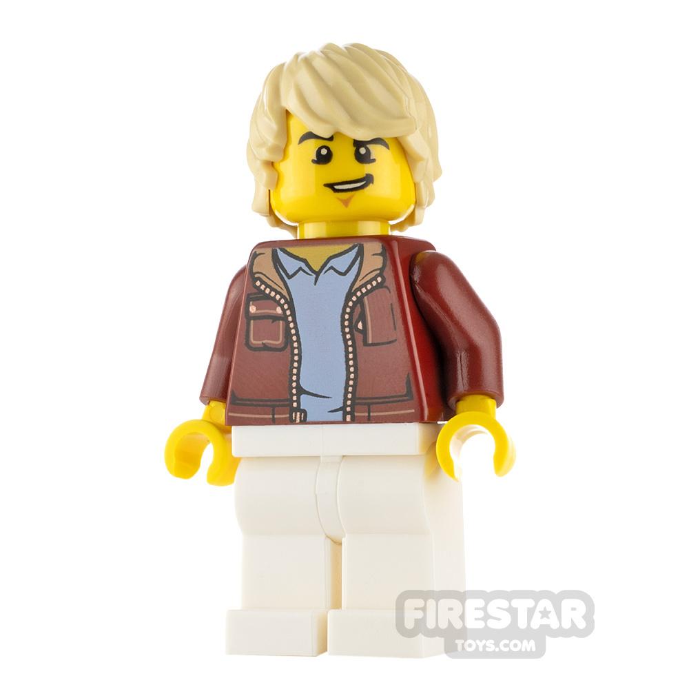 LEGO City Minfigure Car Driver Red Jacket