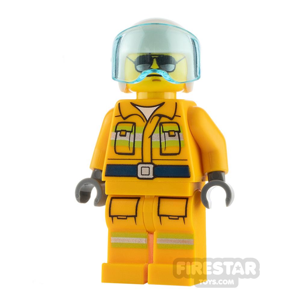 LEGO City Minfigure Firefighter Light Orange Suit