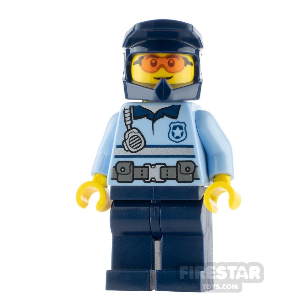 LEGO City Minfigure Police Officer Orange Glasses