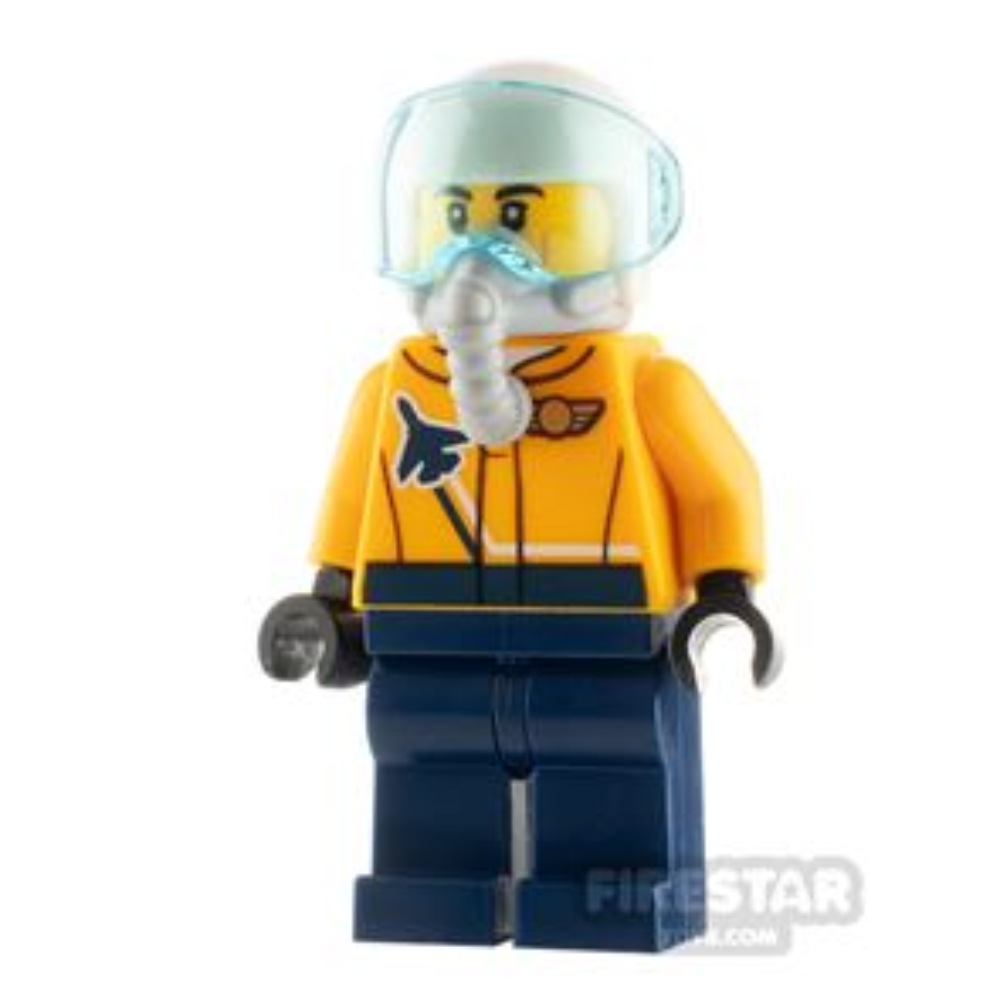 LEGO City Minfigure Airshow Jet Pilot Orange Jacket
