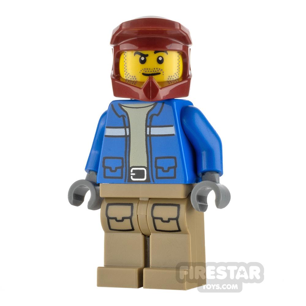 LEGO City Minfigure Wildlife Rescue Explorer Dark Red Helmet