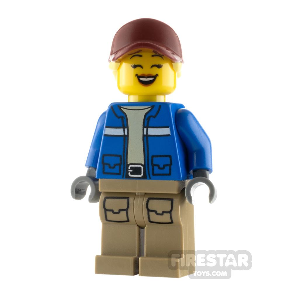 LEGO City Minfigure Wildlife Rescue Explorer Dark Red Cap