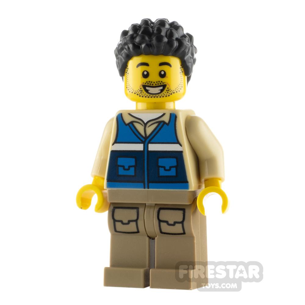LEGO City Minfigure Wildlife Rescue Worker Black Hair
