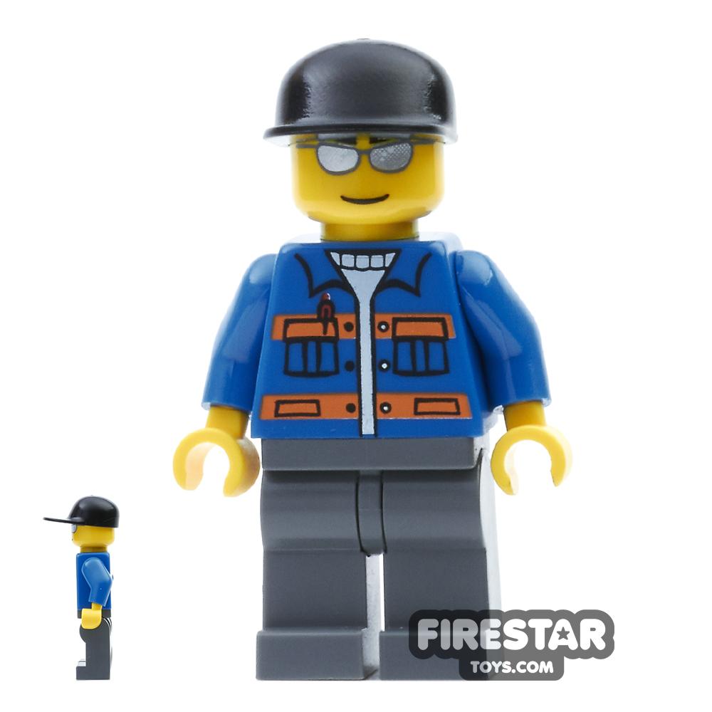 LEGO City Mini Figure - Blue Jacket and Sunglasses