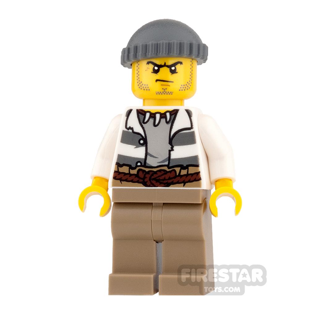 LEGO City Mini Figure - Swamp Police - Crook