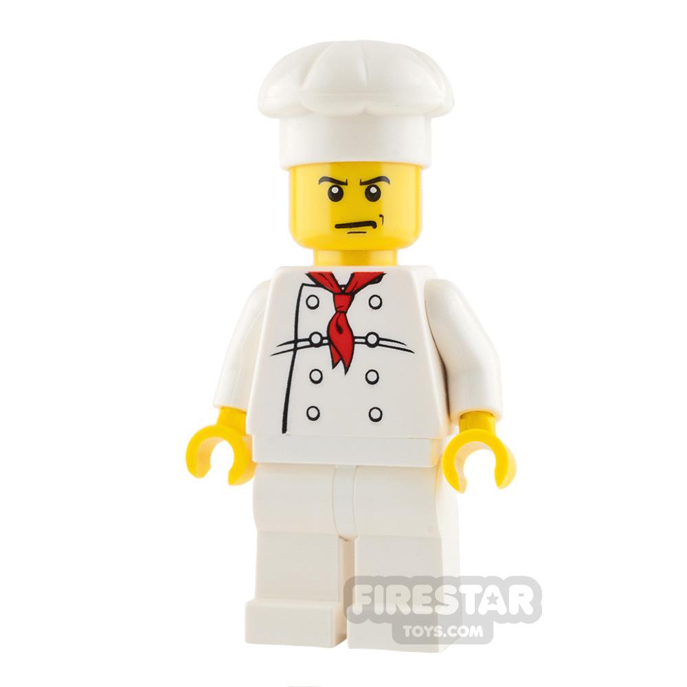 LEGO City Mini Figure - Chef - Angry Eyebrows