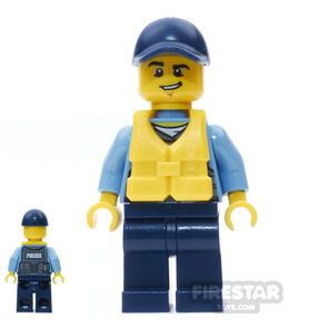 LEGO City Mini Figure – City Officer with Life Preserver
