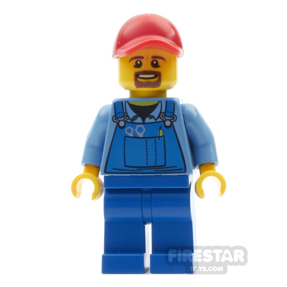LEGO City Mini Figure - Blue Overalls Tools Pocket