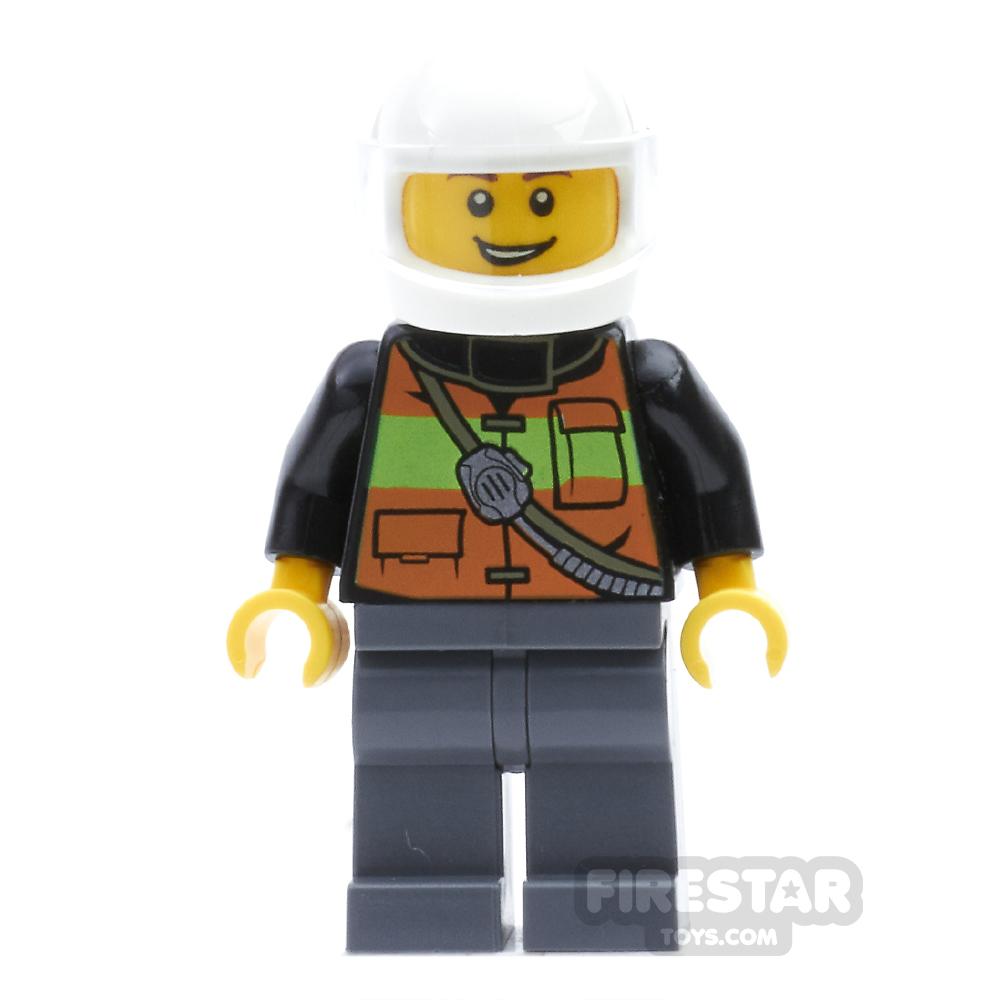 LEGO City Mini Figure - Fire - White Helmet