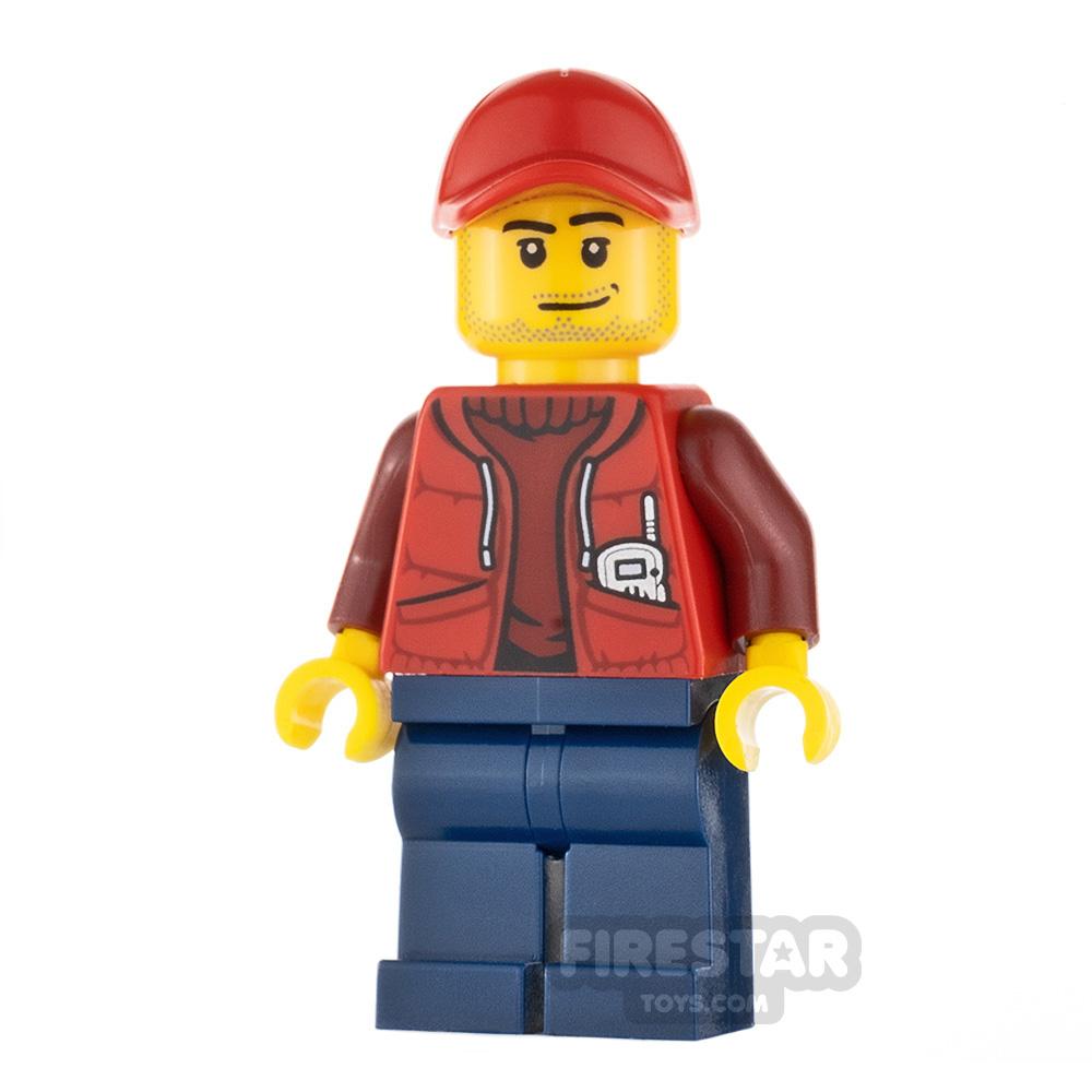 LEGO City Minifigure Deep Sea Submariner Red Cap