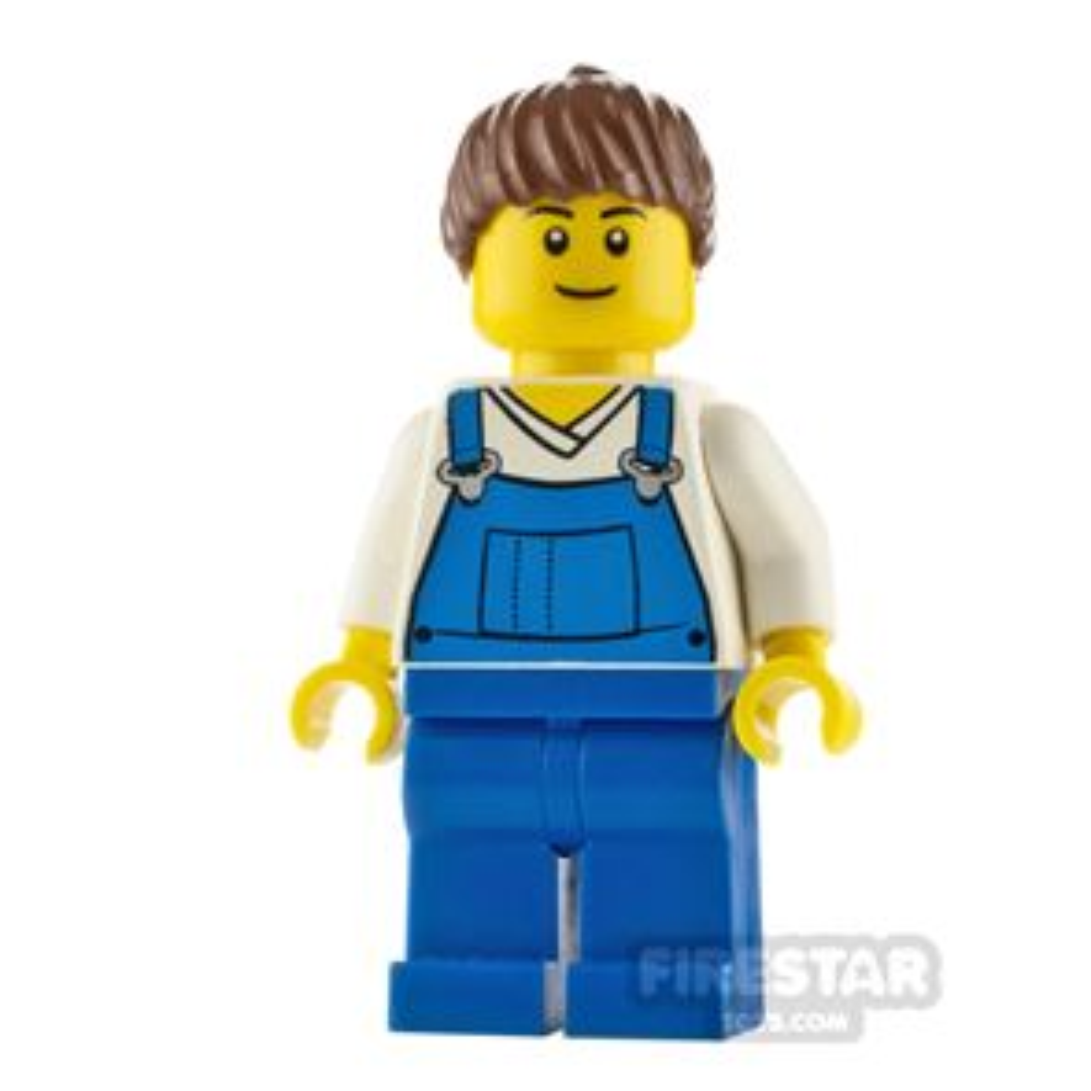 LEGO City Minfigure Farm Hand Blue Overalls