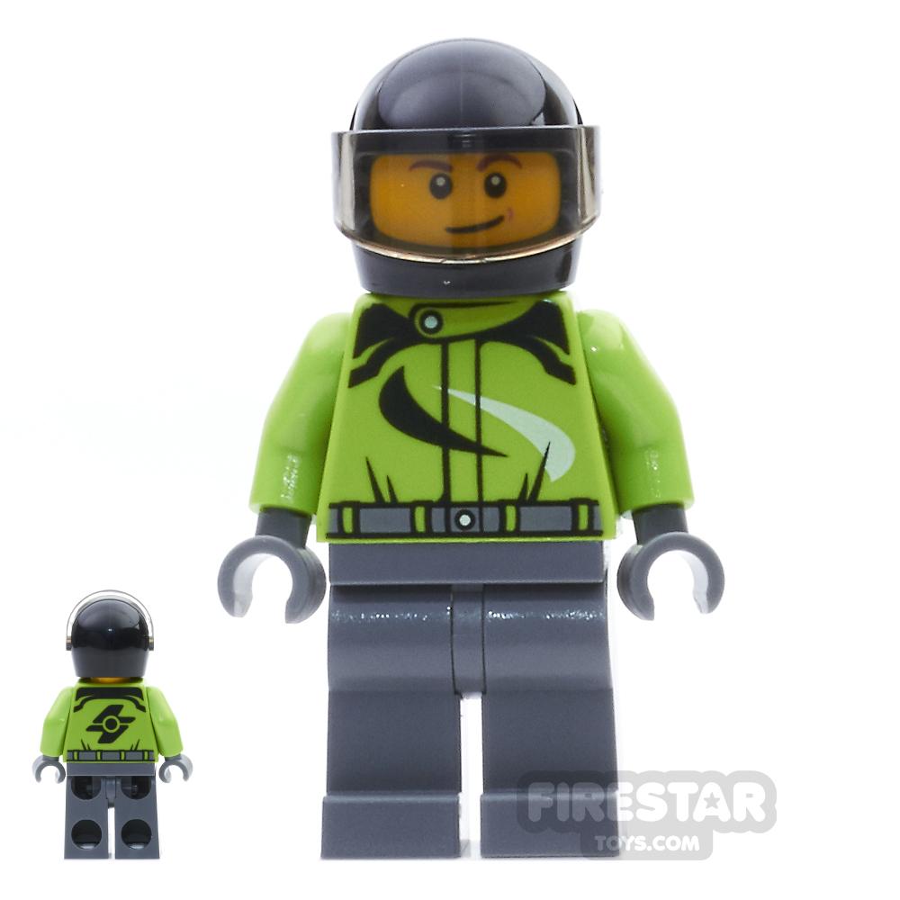 LEGO City Mini Figure - Motorcyclist - Ambulance Plane Passenger