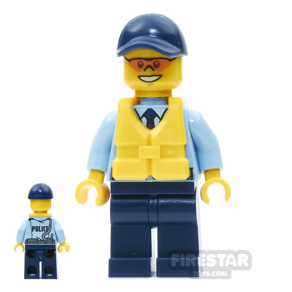 LEGO City Mini Figure - City Officer, Life Preserver, Orange Sunglasses