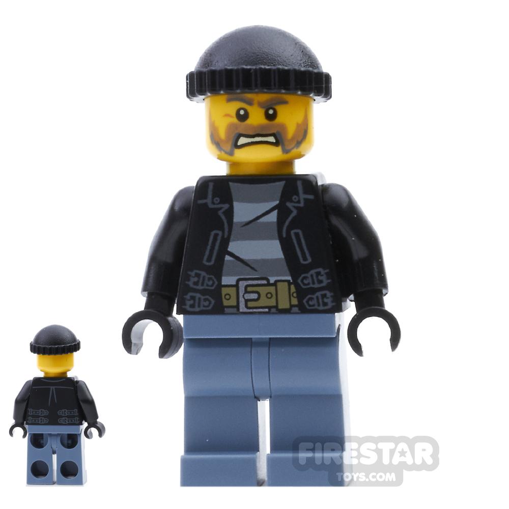 LEGO City Mini Figure - Bandit - Gray Beard